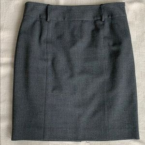 Kenneth Cole Pencil Skirt Black White Pinpoint 4P